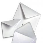 White Square Envelopes for Greeting Cards